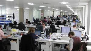 cramped office space. Large Office Space Cramped