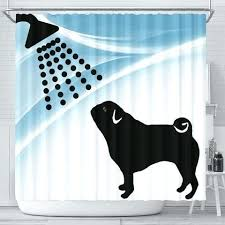 dog shower curtain cute pug dog bath print shower curtain free cat and dog shower dog shower curtain