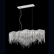 linear dining room lighting. Eurofase : Stylish Lighting Fixture For Your Home: Linear Chandelier From Modern Dining Room