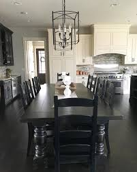 modern kitchen dining sets. black and white modern farmhouse kitchen with long dining table | see this instagram photo by sets h