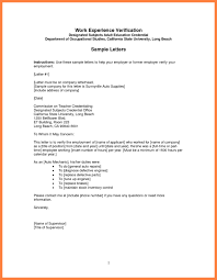 Dandy Sample Of Employment Verification Letter Letter Format Writing