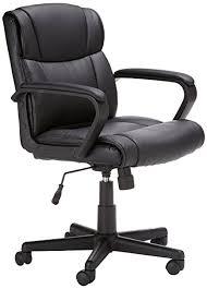office chair. AmazonBasics Mid-Back Office Chair, Black Chair I