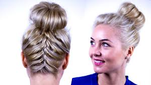 French Braid Updo Hairstyles Upside Down French Braid Updo Tutorial Become Gorgeous Youtube
