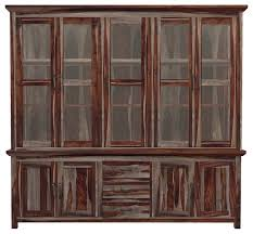 dallas ranch 90 tall solid wood glass door dining sideboard hutch