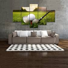 printed with aaa top quality canvas this is a wonderful gift for your friends or you might want to keep it for yourself and show it off in your living  on golf wall art near me with golf wall art decor 5 panel canvas home living room club ball