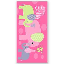 Elephants Personalized Kids Beach Towel Beach Towel Personalized