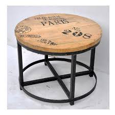 round timber coffee table fabtastic