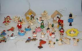 Vintage Konvolut Christbaumschmuck Weihnachten Holzfiguren