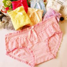<b>Free shipping New arrival</b> women's cotton panties candy lace bow ...