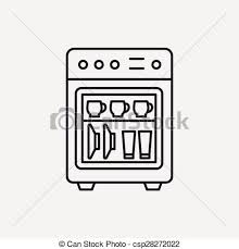 dishwasher clipart black and white. dishwasher line icon clipart black and white 0