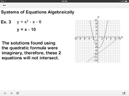 systems of equations quadratic linear
