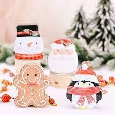 2 Hộp Thiếc Đựng Bánh Kẹo Giáng Sinh Dễ Thương