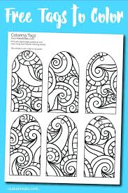 Gift Tag Coloring Page