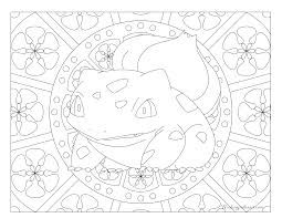 Small Picture 001 Bulbasaur Pokemon Coloring Page Windingpathsartcom