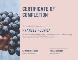 Certificates Of Completion Templates Customize 265 Completion Certificate Templates Online Canva