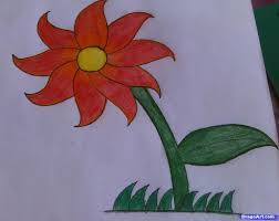 Small Picture How to draw a flower easy Step by Step Flowers For Kids For