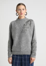 embellished jumper grey