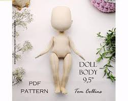 Cloth Doll Patterns Fascinating Cloth Doll Patterns Etsy