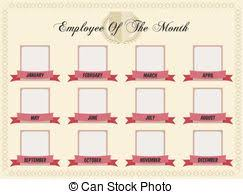 Employee Of The Week Certificate Template Vector