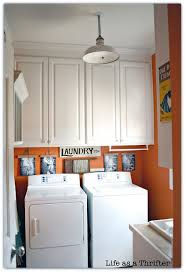 laundry room lighting ideas. adorable laundry room makeover by holly marsh from lifeasathrifter lighting ideas