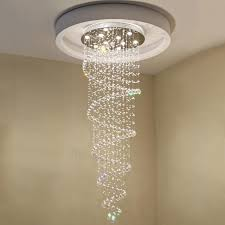 modern k9 large led spiral living room crystal chandeliers ceiling pendant light fixtures for staircase stair hallway dining lamp vallkin orb chandelier