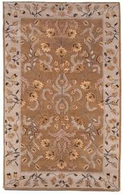 beautiful royal hand tufted wool area rug carpet 5x8 ivory brown beige gold blue