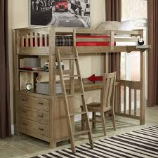 loft bed with desk underneath fur rug combined bed loft bed plan study desk combined red painting wall decor