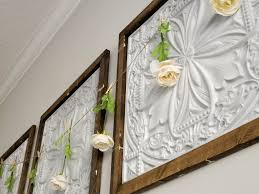 faux tin panel wall art diy jones sweet homes blog