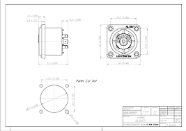 neutrik nl8mpr speakon connector 8 pole chassis mount neutrik nl8mpr technical drawing