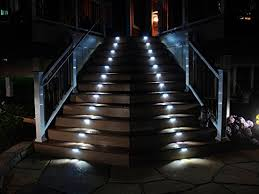 yinghao 3 led outdoor solar powered step stairs light 2 pack com