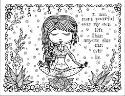 A printable coloring book and children's yoga training download that gets boys interested in yoga. Positive Thoughtfrom The Gallery Zen Coloring Pages Coloring Book Art Coloring Books