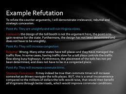 refuting an argument or counter argument example refutationto refute
