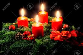 Advent Wreath Decorations Advent Wreath With Candle And Decorations Stock Photo Picture And