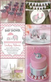 pink and grey elephant baby shower ideas from hotref com