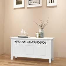 vidaXL <b>Storage Bench Baroque</b> Style MDF White|bench|mdf ...