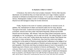 is shylock a villain or victim gcse english marked by document image preview