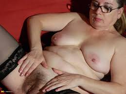 Hairy older women fingering vagina