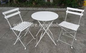 metal bistro set. 3-Piece Bistro Set Folding Metal Table Chair I