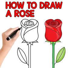 drawing step by step for beginners. Unique Step How To Draw A Rose Step By For Kids And Beginners Inside Drawing By For W