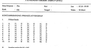 Materi pkn kelas 7 perumusan dan pengesahan uud negara republik indonesia tahun 1945. Soal Dan Kunci Jawaban Latihan Ukk Pkn Smp Kelas 8 Ilmusosial Id