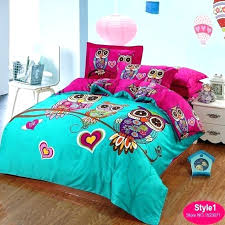 red and turquoise bedding owl comforter set twin kids bedding red rose sets duvet quilt