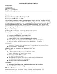 Sample Resume Skills sample resume bookkeeper Alannoscrapleftbehindco 52