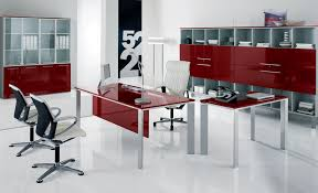 trendy home office furniture. office red accent furniture with glass top desk and modern white executive also trendy home