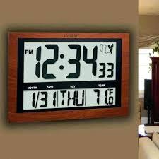 marathon jumbo lcd atomic wall clock atomic digital wall clock large atomic digital wall clock with