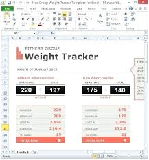 Tracker Spreadsheet Free Group Weight Tracker Template For Excel
