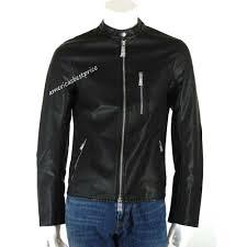 details about a x armani exchange new men s blouson moto jacket coat faux leather nwt ret 200