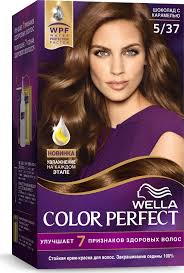 <b>Крем</b>-<b>краска Wella</b> Color Perfect <b>стойкая</b>, 5/37 шоколад с карамелью