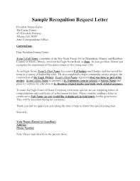 Example Recognition Request Letter Eagle Scout Pinterest