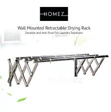 retractable drying rack anti rust stainless steel wall mount retractable drying rack retractable clothes drying rack
