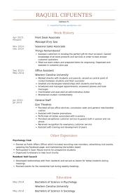 Front Desk Resume Stunning Front Desk Associate Resume Samples VisualCV Resume Samples Database